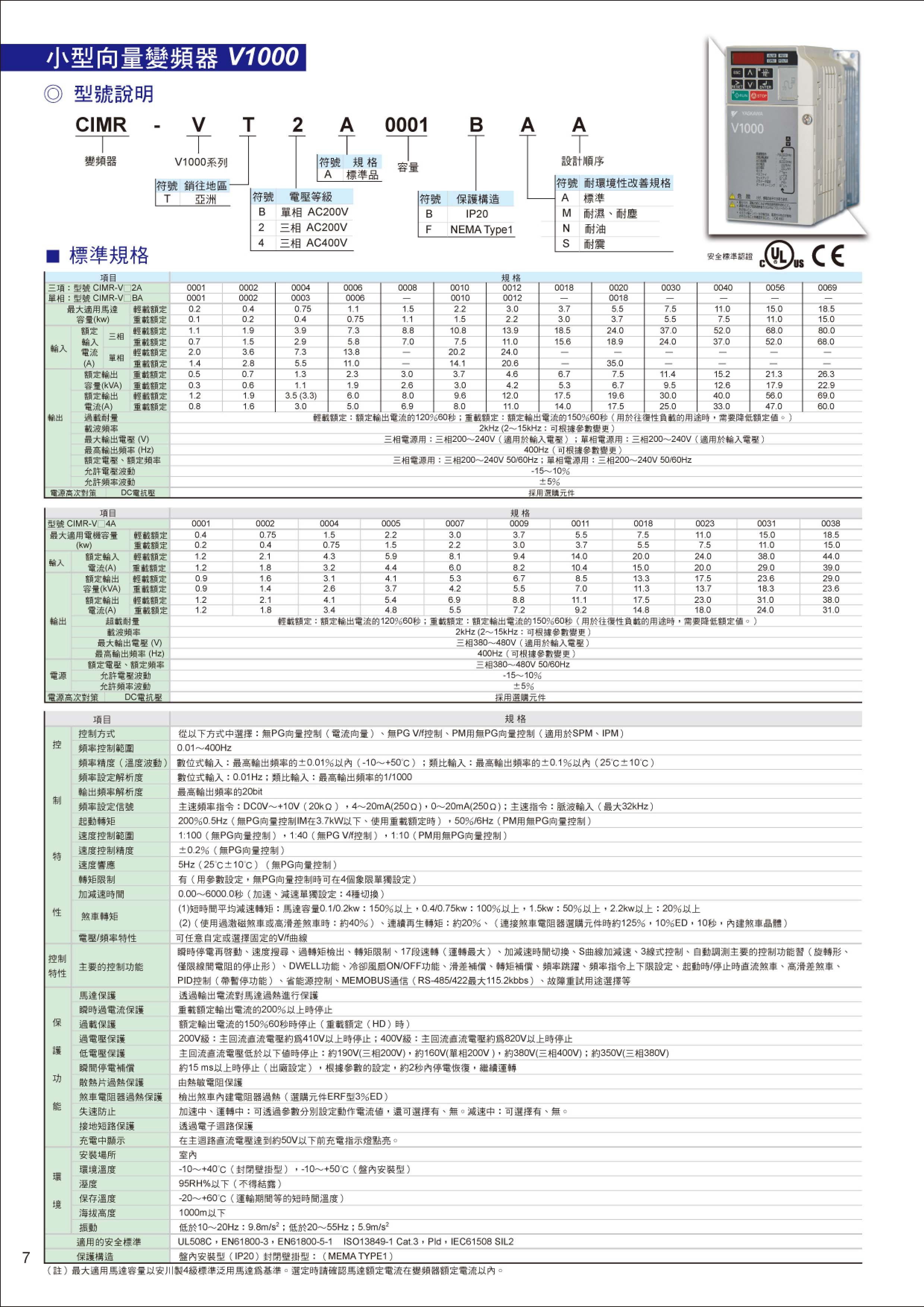 安川變頻器型錄-2012-07-8